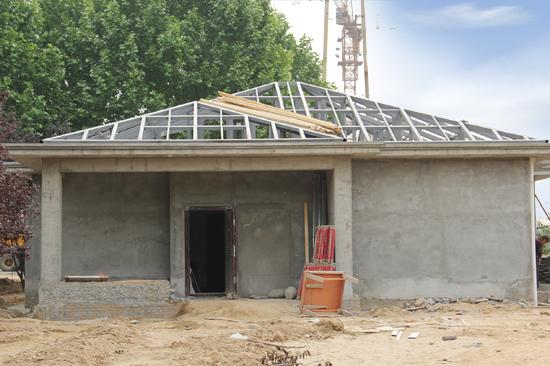 样板间屋面钢结构施工